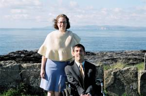 Barton and Megan in Thurso, Scotland.