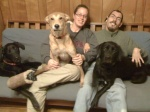 Last fall- family photo with Beowulf.