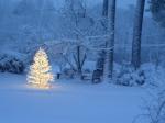 A snowy Christmas.