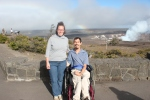 Barton and Megan at Volcano Park with Rainbow