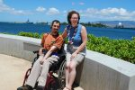 Barton and Megan at Pearl Harbor.